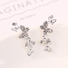 欧美小清新百搭时尚镀真金创意个性小蝴蝶耳钉