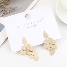 韩版简约小清新时尚镀真金创意气质S925银针(14K金)