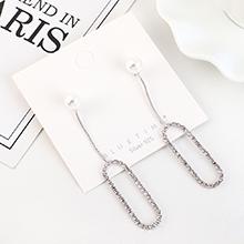 韩版镀真金创意时尚新潮流苏珍珠镂空S925银针(白金)