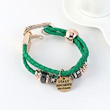 韩版时尚个性简约小清新民族风手链(绿色)
