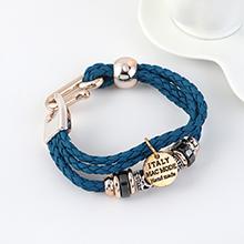 韩版时尚个性简约小清新民族风手链(深蓝)