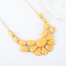 韩版个性气质百搭树脂项链(黄色)