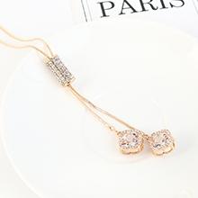 韩版气质夸张时尚水晶锆水钻百搭毛衣链