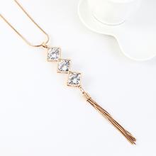 韩版个性时尚夸张气质水晶锆毛衣链
