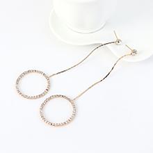韩版长款流苏时尚个性气质大圆圈耳钉(KC金)