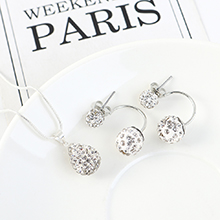 欧美百搭时尚个性创意闪亮小圆球套装