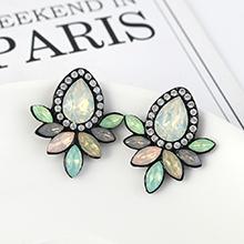 韩版复古时尚创意简约小清新花朵耳环(彩色)