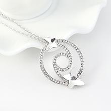 奥地利水晶项链--蝶翼双飞(白色)