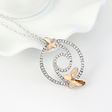 奥地利水晶项链--蝶翼双飞(金色魅影)