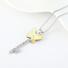 奥地利水晶项链--蝶翼之钥(淡黄)