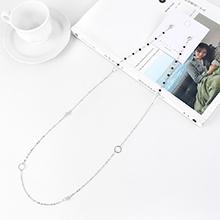韩版镀真金气质时尚长款创意夸张S925银针(白金)