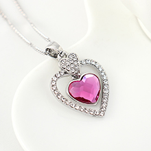 奥地利水晶项链--专属心意(紫红)