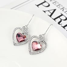 奥地利水晶耳环--专属心意(古典粉红)