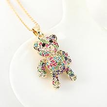 进口水晶项链--卡迪小小熊(彩色)