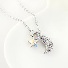 奥地利水晶项链--众星拱月(彩白)