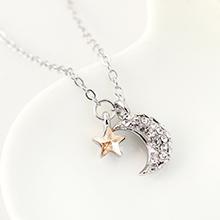 奥地利水晶项链--众星拱月(金色魅影)