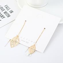 奥地利水晶耳环--枫叶钻(14K金)