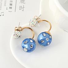 韩版时尚气质百搭个性小彩球耳钉(蓝色)