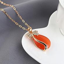 猫眼石项链--花蝶泪(橘黄)