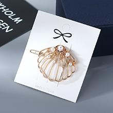 欧美复古时尚简约创意扇屏珍珠发夹