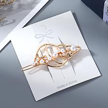 欧美时尚简约百搭小清新海螺珍珠发夹