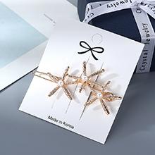 韩版创意简约小清新新潮海星珍珠发夹