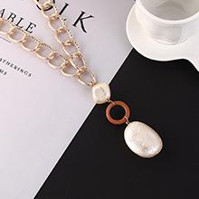韩版复古时尚百搭创意珍珠项链(咖啡)