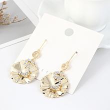 欧美镀真金时尚简约个性创意小荷叶耳环(14K金)
