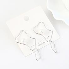 韩版镀真金时尚创意夸张复古镂空S925银针(白金)