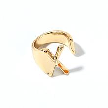 韩版时尚简约新潮百搭X字母开口戒指(KC金)