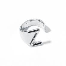 韩版时尚简约新潮百搭Z字母开口戒指(白K)