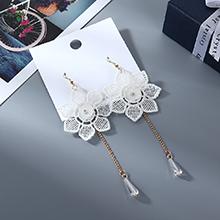 欧美气质时尚创意个性流苏雪莹花耳环
