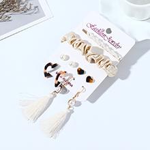 韩版时尚百搭仙女系风靡ins潮树脂珍珠耳环发夹套装