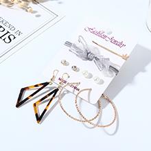 韩版仙女系百搭个性创意小清新蝴蝶结珍珠耳环发夹套装