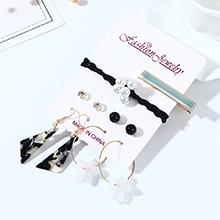 欧美法式仙女系百搭气质复古小花花耳环发夹套装