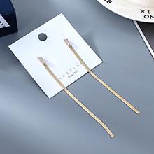 韩版镀真金长款气质大牌时尚流行ins潮锆石流苏S925银针