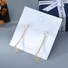 韩版镀真金小清新百搭时尚创意个性小星星珍珠S925银针