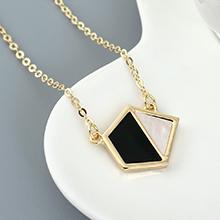 镀真金项链--菱形三角(深绿)