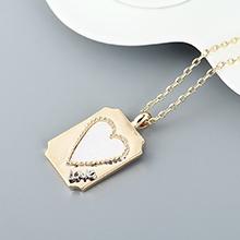 镀真金项链--爱你的心(白色)