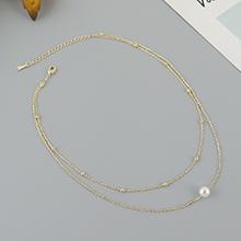 镀真金双层珍珠项链