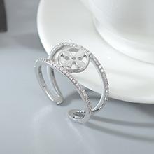 AAA级锆石戒指--爱的四叶草(白金)