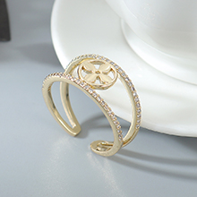 AAA级锆石戒指--爱的四叶草(14K金)