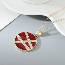 镀真金项链--爱在旅途(红色)