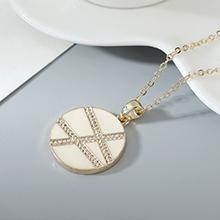 镀真金项链--爱在旅途(白色)
