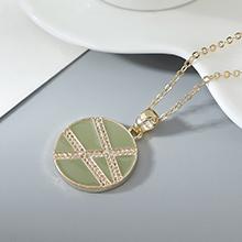 镀真金项链--爱在旅途(绿色)