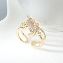 AAA级锆石戒指--爱的独角兽(14K金)