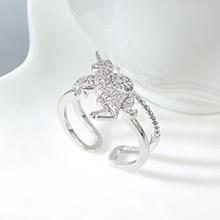 AAA级锆石戒指--爱的独角兽(白金)