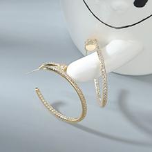 AAA级锆石耳环--幸福圈(14K金)
