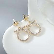 AAA级锆石耳钉--小光环(14K金)