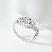 AAA级锆石戒指--一叶知秋(白金)